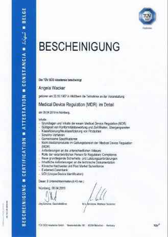 Qualified expert consulting for MDR medical device regulation